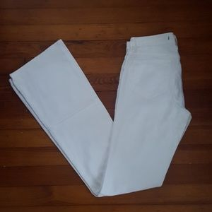 J Brand white denim flared jeans. Size 25